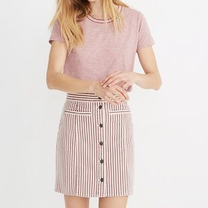 NWT Madewell Stretch Denim Straight Skirt Luca